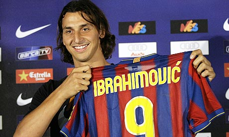 Zlatan Ibrahimovic in Nou Camp