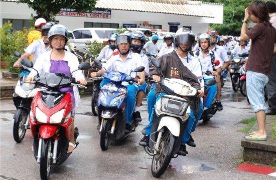 Phuket continuing for 100% helmets