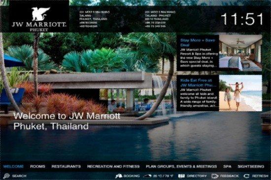 Phuket's JW Marriott iPad App