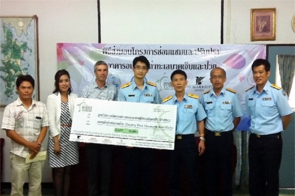 Phuket's JW Marriott and Mai Khao Marine Turtle Foundation  Donate Funds to Help Phuket's Endangered Sea Turtles