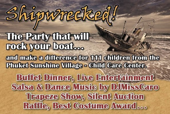 Phuket Sunshine Village's 'Shipwrecked' theme party
