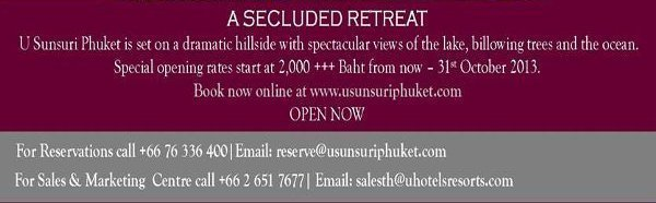 U Sunsuri Phuket Now Open