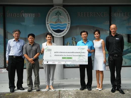 JW Marriott Phuket Donate to Help Endangered Sea Turtles