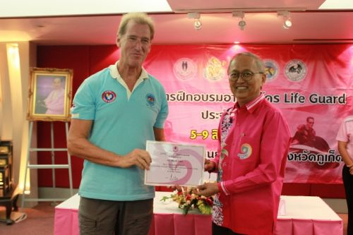 Phuket awards lifeguard training certificates