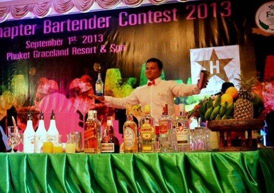 Phuket Barman joins Bartender Championship 2013
