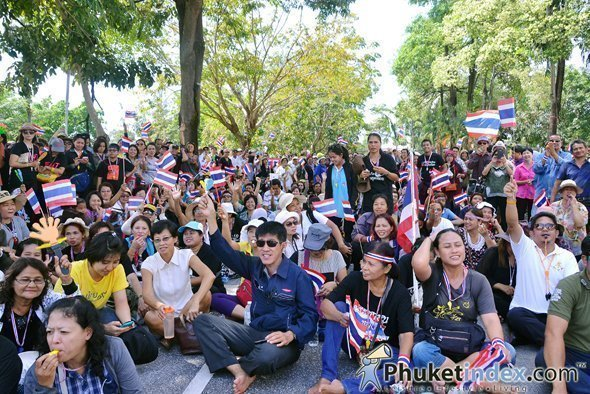 Anti Government Protestors Siege Phuket Government Offices
