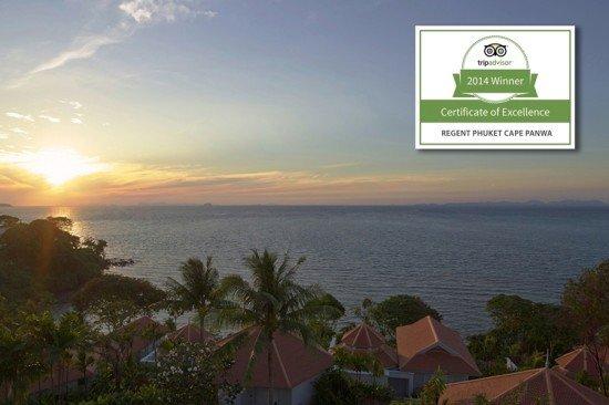 Regent Phuket Awarded 2014 TripAdvisor Certificate of Excellence