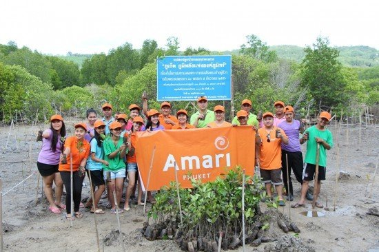 Mangrove planting event by Amai Phuket