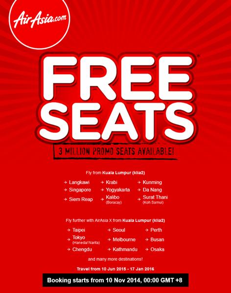 AirAsia FREE SEATS are back!