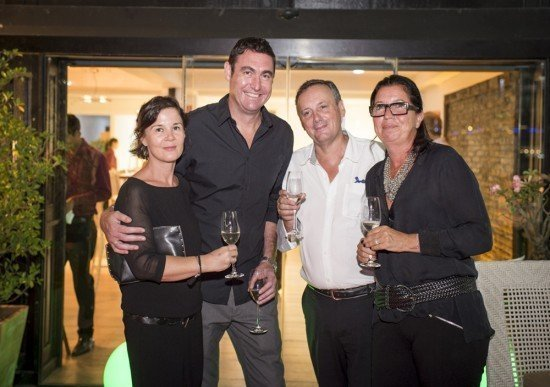Anne Briand & Danny Drinkwater, CEO Iniala with Black Salmon owners, Veronique & Loic Dubois
