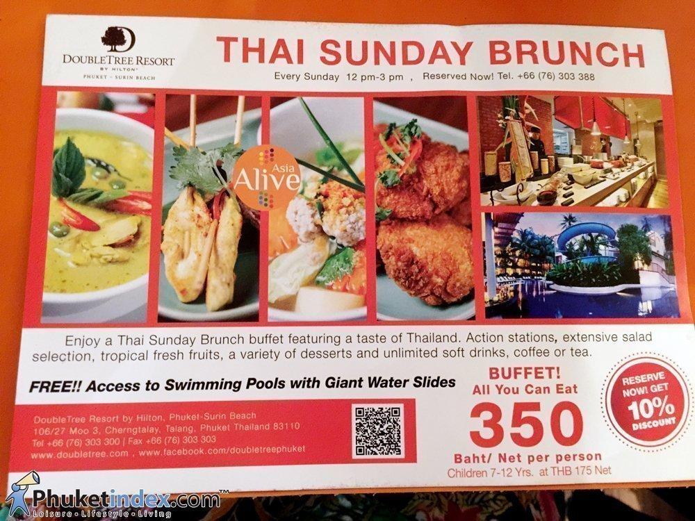 Thai Sunday Brunch at DoubleTree Resort by Hilton, Surin Beach