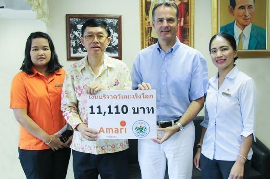 Amari Phuket collaborates with Patong Hospital to support canner patients