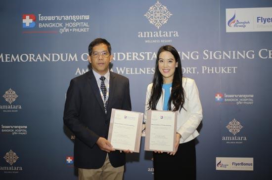 Amatara signs agreement with Bangkok Airways and Bangkok Hospital Phuket