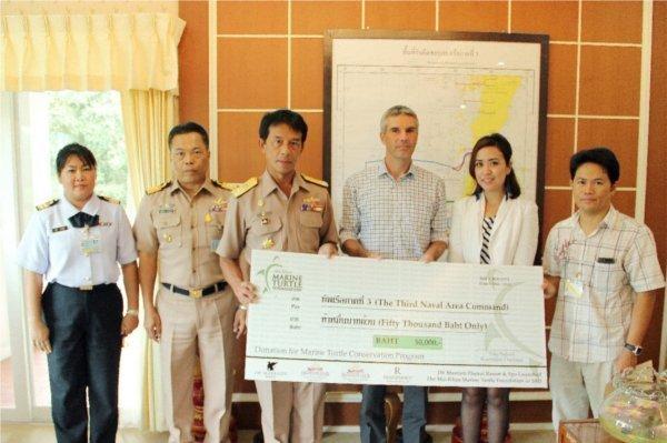 Phuket's JW Marriott and Mai Khao Marine Turtle Foundation  Donate Funds to Help Phuket's Endangered Sea Turtles