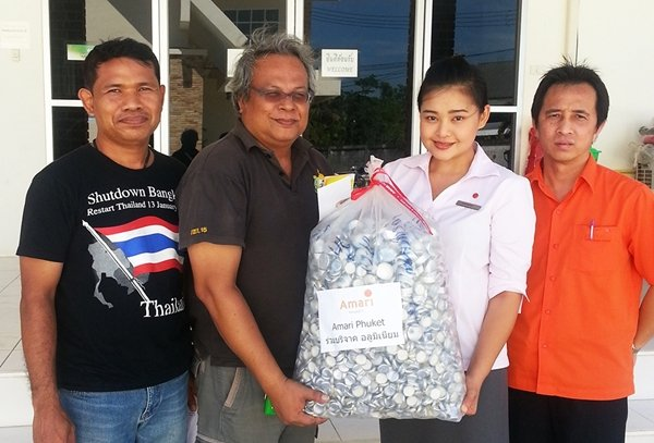 Amari Phuket donates aluminum bottle caps to Regional Environment Office 15