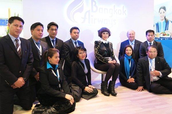 HRH Princess Ubolratana visits Bangkok Airways' booth at ITB 2014