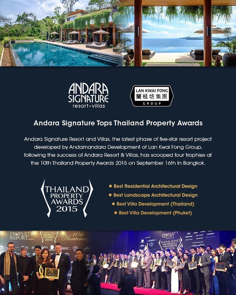 Andara Signature Tops Thailand Property Awards