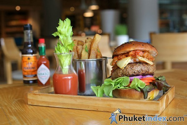 Bloody Mary Beef Pattie atRenaissance Phuket Resort & Spa