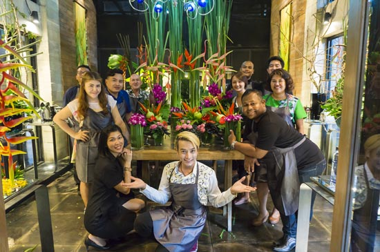 "The Slate a Phuket Pearl Resort held an exclusive workshop of ""Art Floral"""