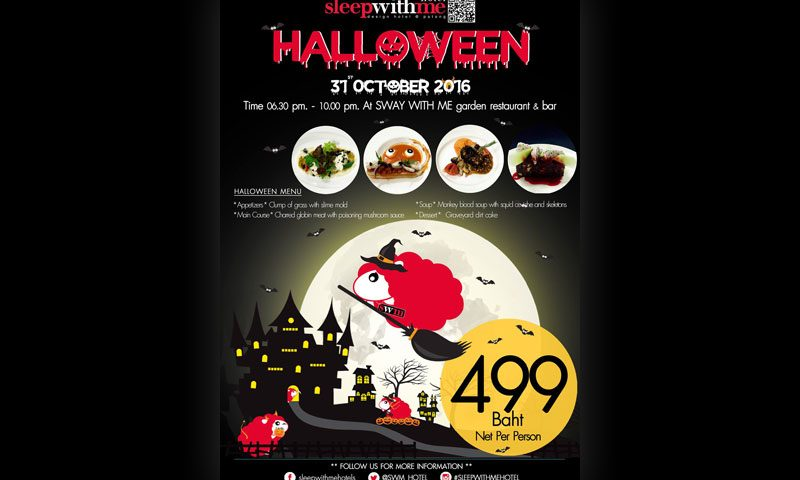 Halloween at SWAY WITH ME garden restaurant & bar