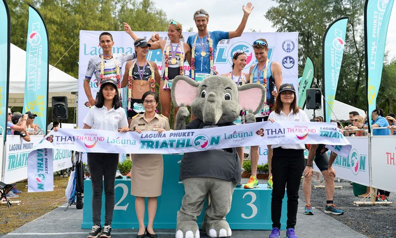 Michael Raeleart of Germany Defends His Title at Laguna Phuket Triathlon