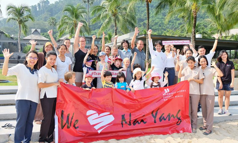 Phuket Marriott Resort & Spa, Nai Yang Beach Helps Local Kids Clean Up Nai Yang Beach!