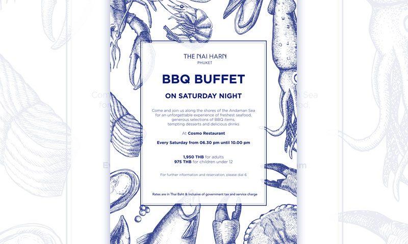 The Naiharn Phuket – BBQ buffet on Saturday Night