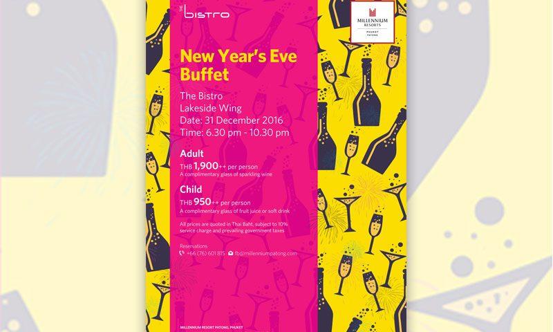 New Year Eve Buffet Dinner at Millennium Resort Patong Phuket