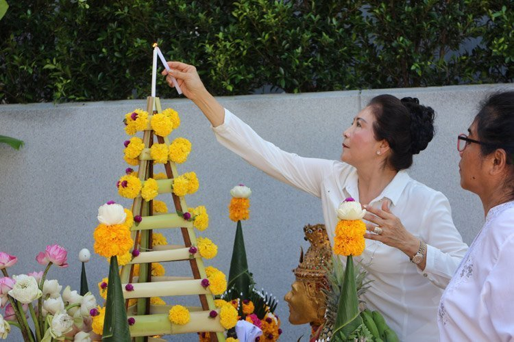 The Sis Kata Phuket held the Brahma Shrine and spirit house installation ceremony