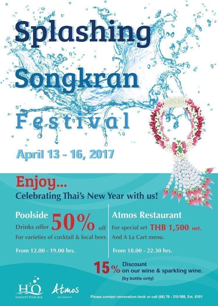Splashing Songkran Festival at Crest Resort & Pool Villas