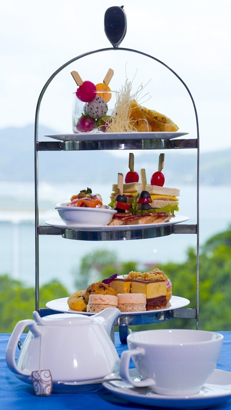Afternoon tea set at Crest Resort & Pool Villas