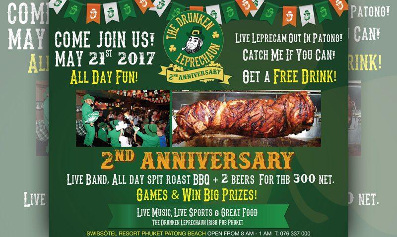 The Drunken Leprechaun Irish Pub Phuket is 2nd Anniversary!