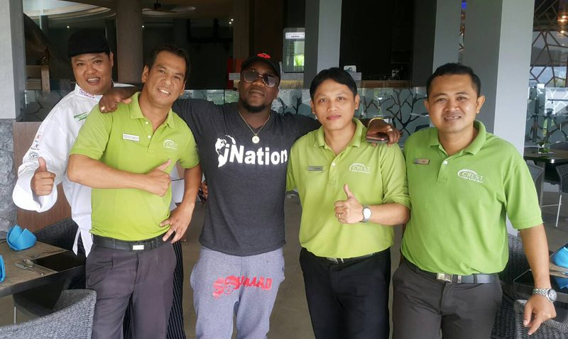 Crest Resort & Pool Villas has warm welcomed the world famous rapper, Mr. Keidran Kenmore Jones