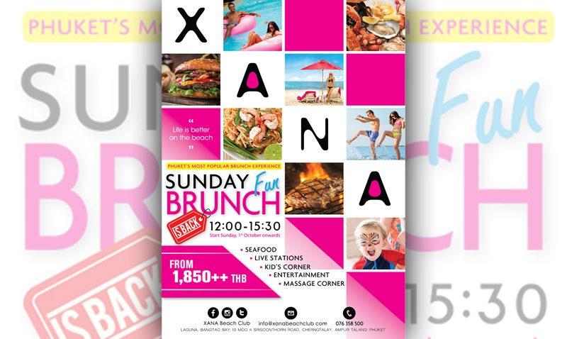 XANA Beach Club re-launches Sunday Fun Brunch by the Beach