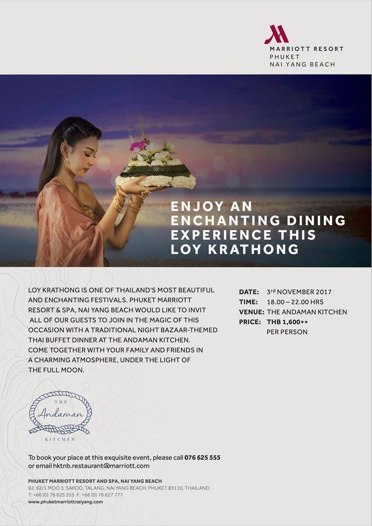 Enjoy an enchanting dining experience this Loy Krathong