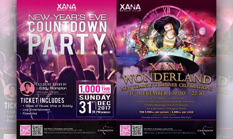 Ring in the new year with Xana's Wonderland Gala Dinner and Countdown Extravaganza