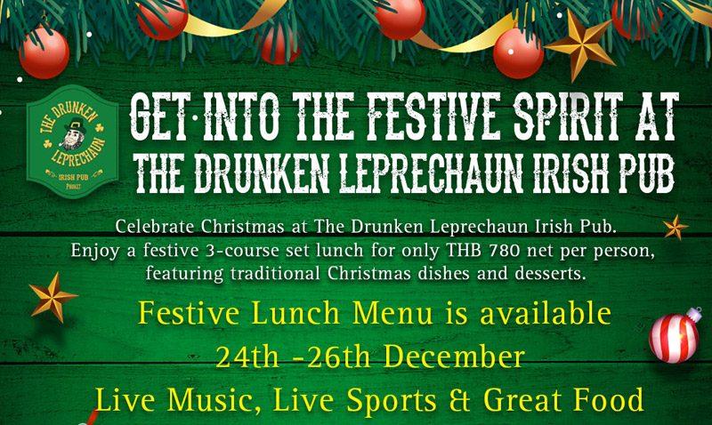Celebrate Christmas at The Drunken Leprechaun
