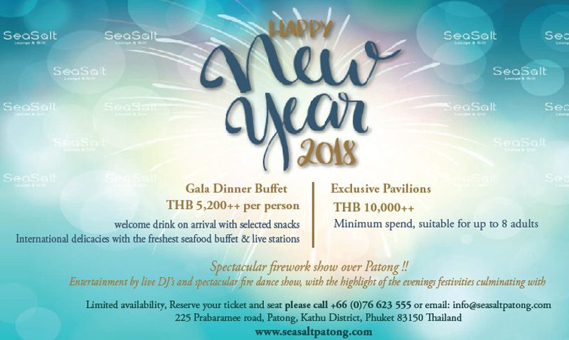 """New Year's Eve Gala Dinner at Sea Salt Lounge & Grill"""