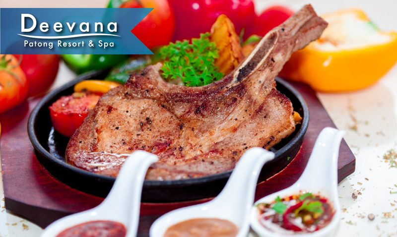 "Promotion: ""Grilled Pork Chop served with fried potatoes"", Deevana Patong Resort & Spa"