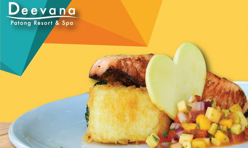 """Promotion: """"Grilled salmon Over mango sweet"""", Deevana Patong Resort & Spa"""
