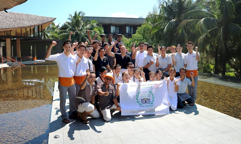 Renaissance Phuket Resort & Spa wins 2 awards at 2018 Tripadvisor Travellers' Choice Award for hotels