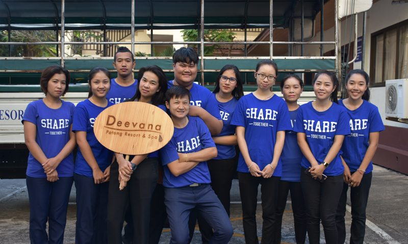 Deevana Patong Resort and Spa be caring for the society and environment