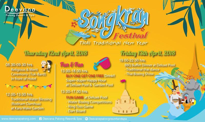 Let's Celebrate Songkran Festival 2018 at Deevana Patong Resort & Spa