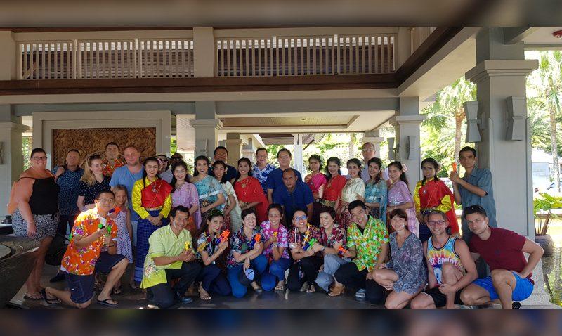 Songkran Blessing Water at Phuket Marriott Resort & Spa, Nai Yang Beach