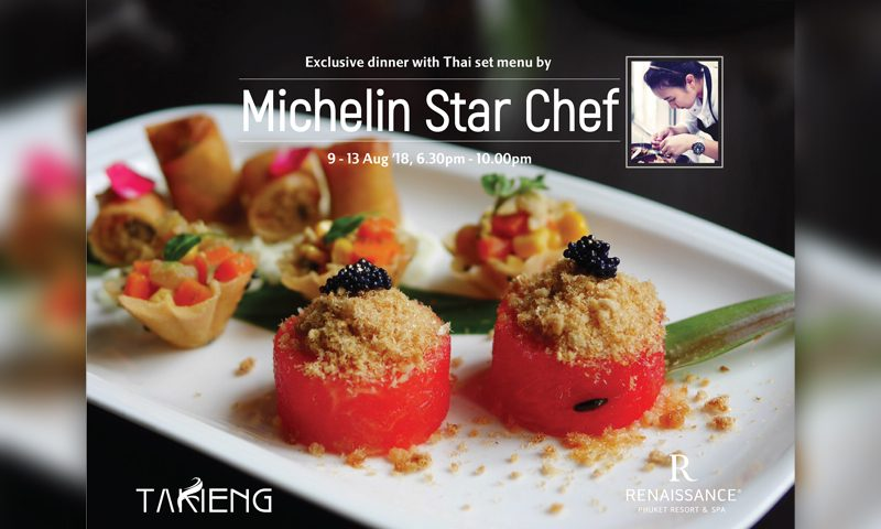 Exclusive dinner with Thai set menu by Michelin Star Chef
