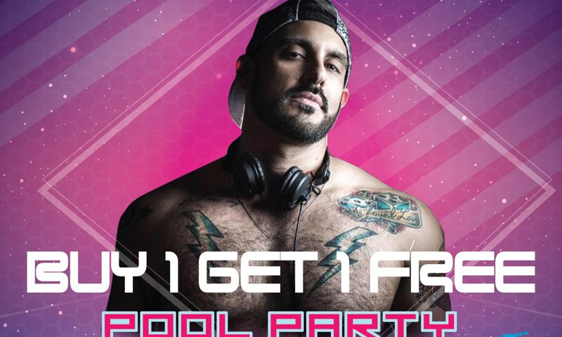 BUY 1 GET 1 FREE for DJ POOL PARTY by DJ GSP at The SIS Kata, Phuket!
