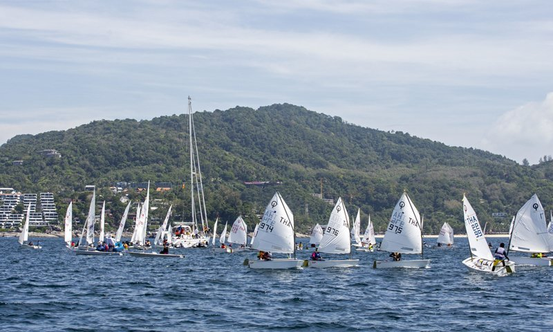 32nd Phuket King's Cup Regatta Young sailors show their skills in the dinghy classes