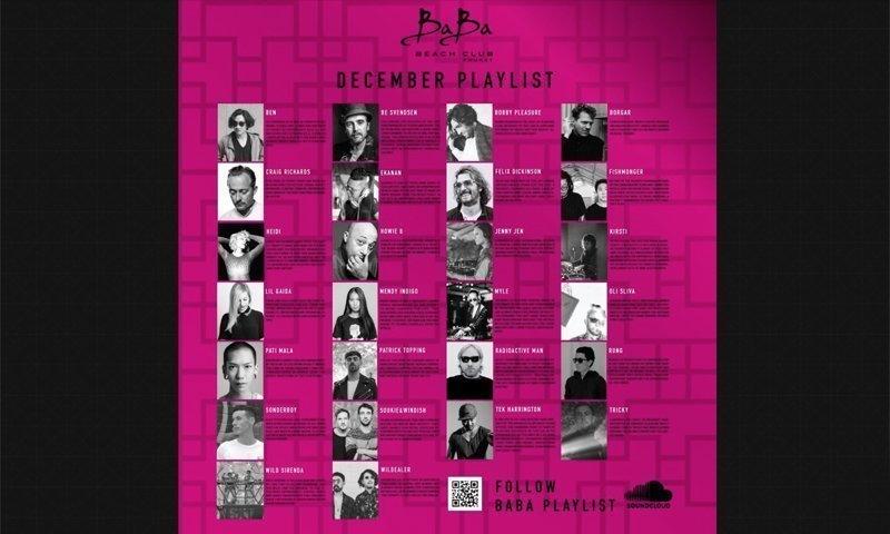 December Playlist & Events at Baba Beach Club Phuket
