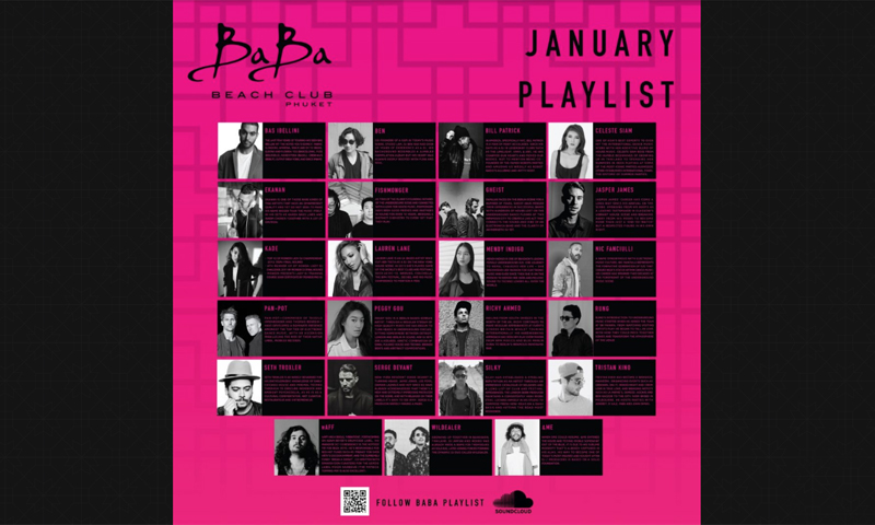January Playlist & Events at Baba Beach Club Phuket