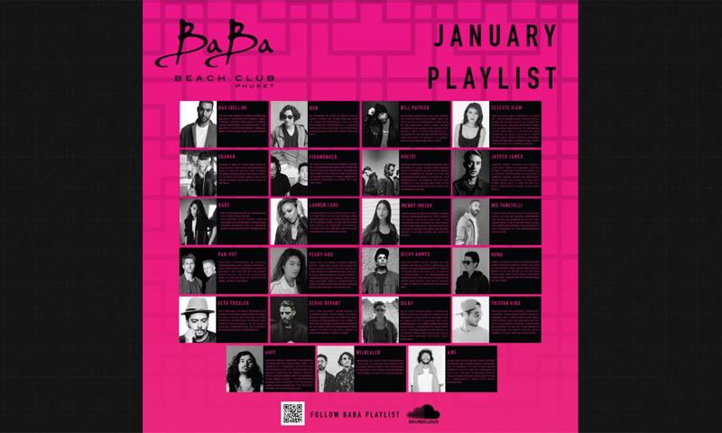 January Playlist & Events at Baba Beach Club Phuket